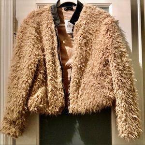 Faux fur Bomber jacket NWT
